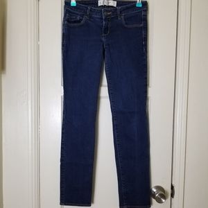 ABERCROMBIE AND FITCH straight leg blue jeans